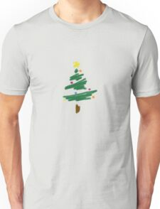 Brush Stroke Christmas Tree Unisex T-Shirt