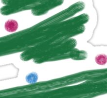 Brush Stroke Christmas Tree Sticker
