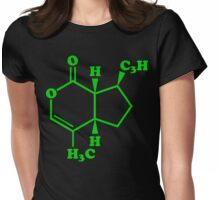 Catnip Nepetalactone Molecular Chemical Formula Womens Fitted T-Shirt
