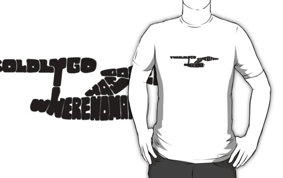 To Boldly Go Where No Typography Has Gone Before (Black) by renduh
