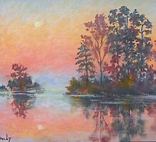 Sunset at the James River by Julia Lesnichy