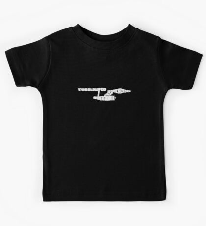To Boldly Go Where No Typography Has Gone Before (White) Kids Tee