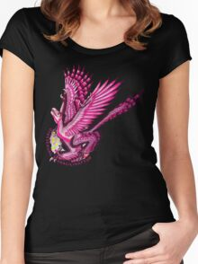Gynesexual Graciliraptor (with text)  Women's Fitted Scoop T-Shirt