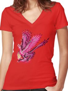Gynesexual Graciliraptor (with text)  Women's Fitted V-Neck T-Shirt