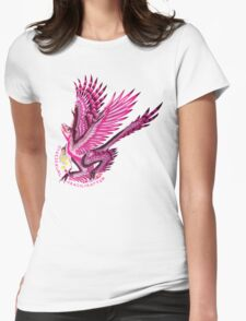 Gynesexual Graciliraptor (with text)  Womens Fitted T-Shirt