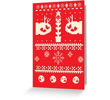 Ugly Mario Christmas Sweater Greeting Card