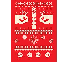 Ugly Mario Christmas Sweater Photographic Print