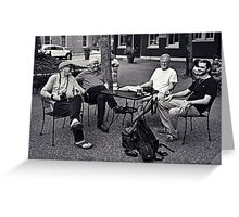 A Gathering of Gents Greeting Card