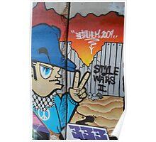 Local Artwork on the Wall, Bethlehem. Poster