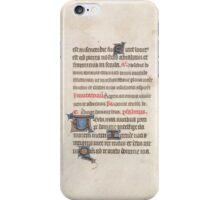 Medieval Illuminated Manuscript iPhone Case/Skin