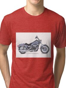 Illustrated Graphic Tee - Harley Dyna  Tri-blend T-Shirt