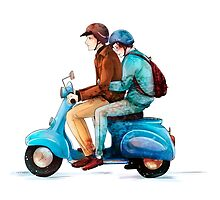Moped by arisupaints