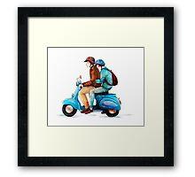 Moped Framed Print
