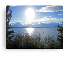 Light Sun Lake Canvas Print