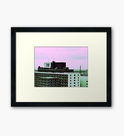 710 (Pink Skies) Framed Print