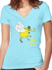 Fruit flies Women's Fitted V-Neck T-Shirt