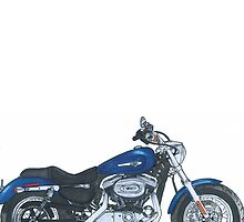 Illustrated Graphic Tee - Harley Sportster 1200 by danridesbikes