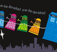 Dalek christmas by Matt Mawson