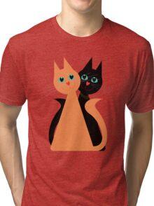 Feline Friends Tri-blend T-Shirt