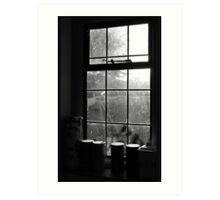 Looking through the kitchen window Art Print