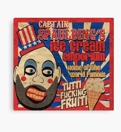Capt. Spaulding's Ice Cream Emporium Canvas Print
