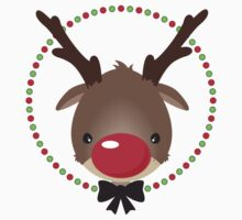 FESTIVE CHRISTMAS T-SHIRT :: rudolph the red nosed reindeer Kids Clothes