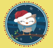 FESTIVE CHRISTMAS T-SHIRT :: boy owl night time One Piece - Short Sleeve