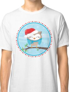 FESTIVE CHRISTMAS T-SHIRT :: boy owl day time Classic T-Shirt