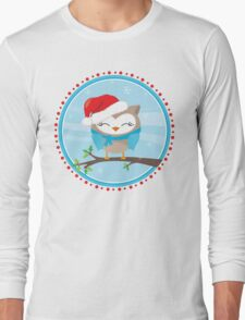 FESTIVE CHRISTMAS T-SHIRT :: boy owl day time Long Sleeve T-Shirt