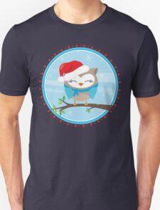 FESTIVE CHRISTMAS T-SHIRT :: boy owl day time Unisex T-Shirt