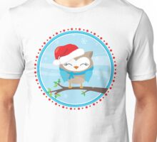 FESTIVE CHRISTMAS T-SHIRT :: boy owl day time Unisex T-Shirt