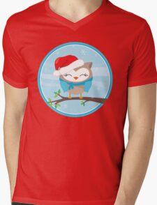 FESTIVE CHRISTMAS T-SHIRT :: boy owl day time Mens V-Neck T-Shirt