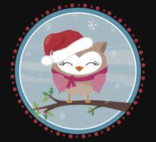 FESTIVE CHRISTMAS T-SHIRT :: girl owl day time Baby Tee