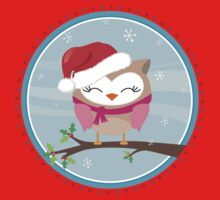 FESTIVE CHRISTMAS T-SHIRT :: girl owl day time One Piece - Short Sleeve