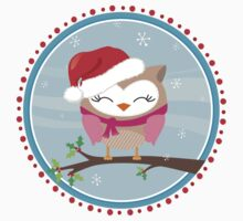 FESTIVE CHRISTMAS T-SHIRT :: girl owl day time One Piece - Long Sleeve