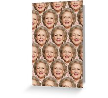 Miss Betty White Greeting Card