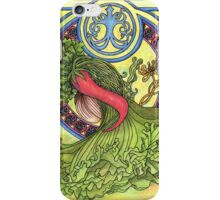Art nouveau. Spices and vegetables iPhone Case/Skin