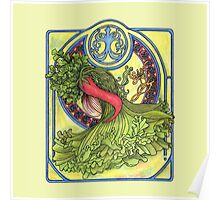 Art nouveau. Spices and vegetables Poster