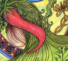 Art nouveau. Spices and vegetables Sticker
