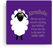 Yarnaholic lamb is on the way to rehab Canvas Print