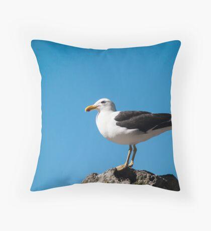 black back gull Throw Pillow