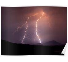 Mount French Lightning Poster