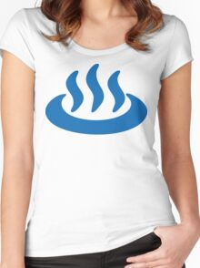 Onsen ♨ Hot Spring 温泉 Japanese Sign Women's Fitted Scoop T-Shirt