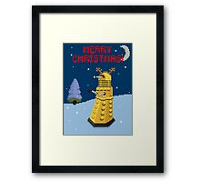 Dalek the Reigndeer Framed Print