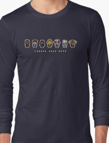 """Choose Your Hero"" - Arrangement Number 2 Long Sleeve T-Shirt"