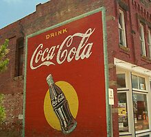 Route 66 - Coca Cola Ghost Mural by Frank Romeo