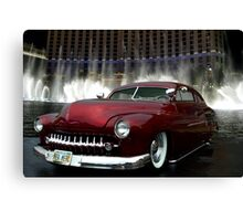 """Her Merc"" 1950 Mercury Low Rider Canvas Print"