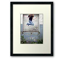 Jump Up Framed Print