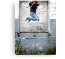 Jump Up Canvas Print