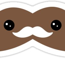 Cute Chocolate Mustache Sticker